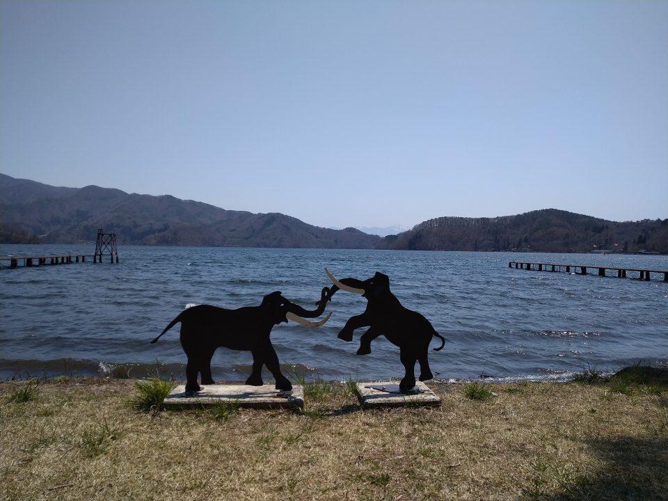 野尻湖 モニュメント